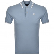 G Star Raw Dunda Stripe Slim Polo T Shirt Blue