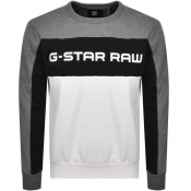 Product Image for G Star Raw Swando Block Crew Neck Sweatshirt Grey