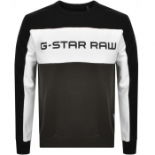 Product Image for G Star Raw Swando Block Crew Neck Sweatshirt Black
