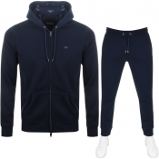 Product Image for Emporio Armani Full Zip Hooded Tracksuit Navy
