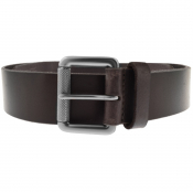 Superdry Badgeman Leather Belt Brown