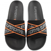 Superdry City Beach Logo Sliders Black