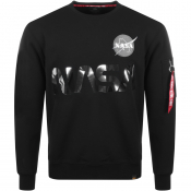 Product Image for Alpha Industries Nasa Reflective Sweatshirt Black