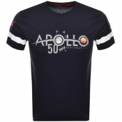 Alpha Industries Apollo 50 Reflective T Shirt Navy