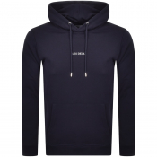 Product Image for Les Deux Lens Logo Hoodie Navy