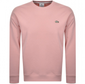 Product Image for Lacoste Live Crew Neck Sweatshirt Pink