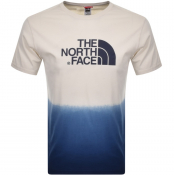 The North Face Dip Dye T Shirt Cream
