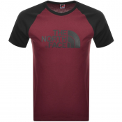 The North Face Raglan Easy T Shirt Burgundy