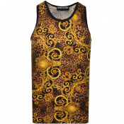 Product Image for Versace Jeans Couture Baroque Vest T Shirt Black