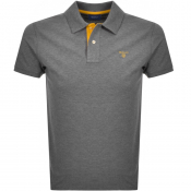 Product Image for Gant Contrast Collar Rugger Polo T Shirt Grey