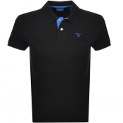 Product Image for Gant Contrast Collar Rugger Polo T Shirt Black