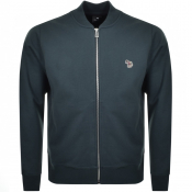 PS By Paul Smith Full Zip Bomber Sweatshirt Teal