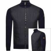 Product Image for Belstaff Kelby Full Zip Knit Jumper Navy