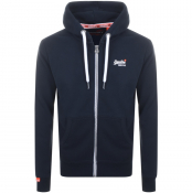 Product Image for Superdry Orange Label Full Zip Hoodie Navy