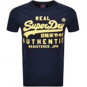 Product Image for Superdry Vintage Logo T Shirt Navy