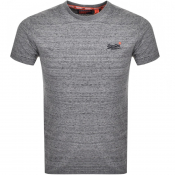 Product Image for Superdry Orange Label Logo T Shirt Grey