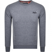 Superdry Orange Label Crew Neck Sweatshirt Blue