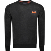 Superdry Orange Label Crew Neck Sweatshirt Black