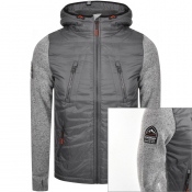 Superdry Storm Hybrid Hooded Jacket Grey