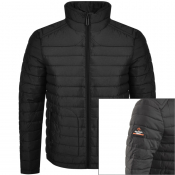 Product Image for Superdry Padded Double Zip Fuji Jacket Black