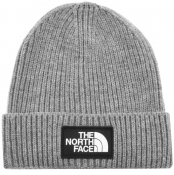 The North Face Logo Beanie Hat Grey
