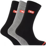 Diesel SKM RAY Three Pack Socks Black