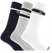 Lacoste Sport Three Pack Socks Navy