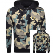True Religion Full Zip Camouflage Hoodie Black