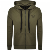 Product Image for True Religion Full Zip Hoodie Green