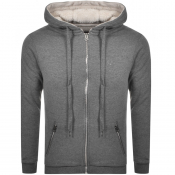 True Religion Full Zip Fleece Hoodie Grey