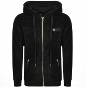 True Religion Full Zip Fleece Hoodie Black