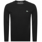Lacoste Sport Long Sleeved T Shirt Black