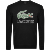 Lacoste Large Crocodile Sweatshirt Black