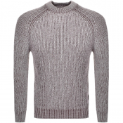 Luke 1977 Plated Knit Jumper Burgundy
