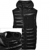 Product Image for CP Company Goggle Hood Padded Gilet Black