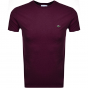 Lacoste Crew Neck T Shirt Purple