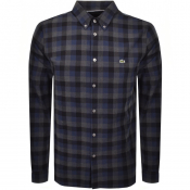 Product Image for Lacoste Long Sleeved Check Shirt Navy