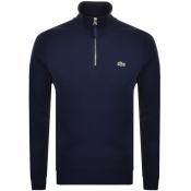 Product Image for Lacoste Half Zip Sweatshirt Navy