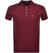 Product Image for Diesel T Weet Short Sleeved Polo T Shirt Burgundy