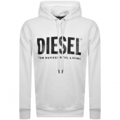 Product Image for Diesel Division Logo Hoodie White
