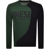 Diesel Crew Neck Knit Jumper Green