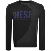 Diesel Crew Neck Knit Jumper Black