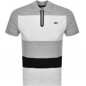 Lacoste Sport Colour Block Polo T Shirt Grey
