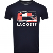 Product Image for Lacoste Sport Crew Neck Logo T Shirt Navy