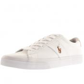 Ralph Lauren Sayer Canvas Trainers White