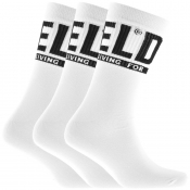 Diesel SKM RAY Three Pack Socks White