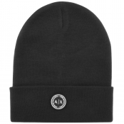 Product Image for Armani Exchange logo Beanie Hat Black