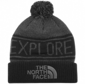 The North Face Retro Pom Beanie Hat Black