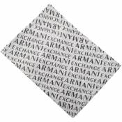 Armani Exchange logo Scarf Grey