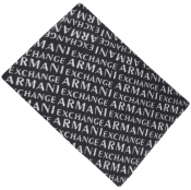 Product Image for Armani Exchange logo Scarf Navy